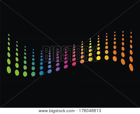 colourfull sound wave, audio technology, abstract shape