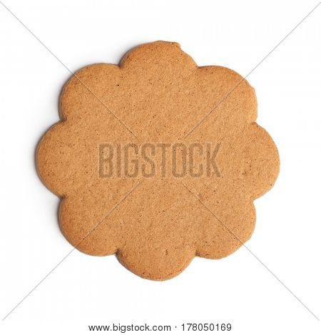 Gingerbread cookie isolated on white