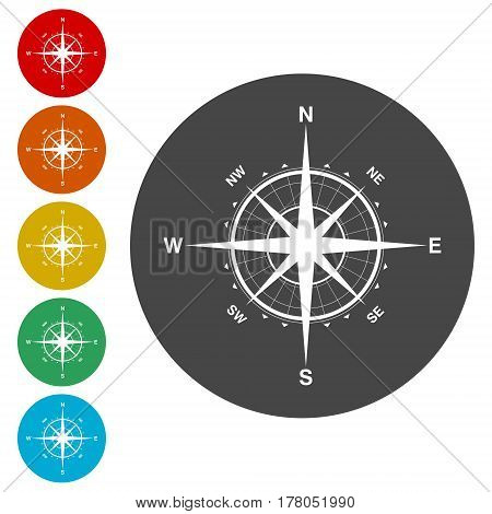 Compass sign icon. Windrose navigation vector symbol