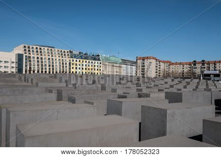 Memorial To The Murdered Jews Of Europe / Holocaust Memorial In Berlin