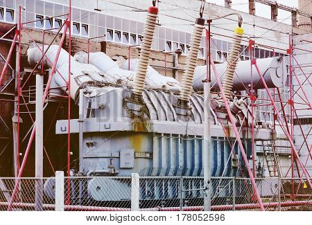 power transformer.Power station, high voltage, switchgear electricity industry