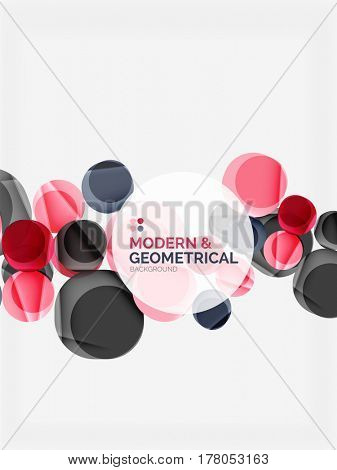 Color glossy squares with round angles, composition with sample text. abstract background design template for your slogan, message or presentation
