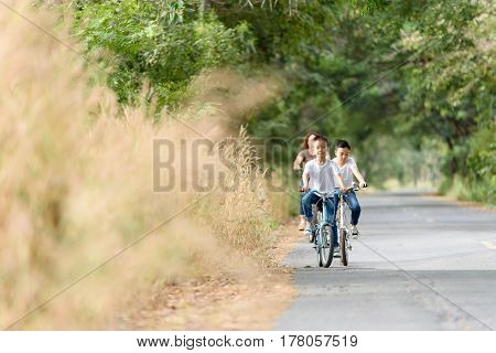 Boy Ride Bicycle