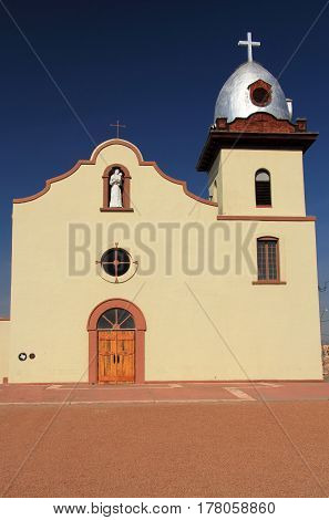Historic Ysleta Mission along the El Paso Mission Trail in the State of Texas