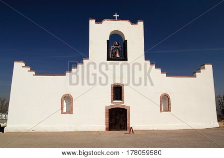 Historic Mission Socorro along the El Paso Mission Trail in the State of Texas