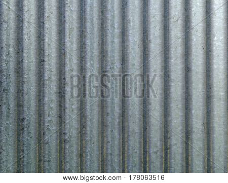 Corrugated metal galvanized wall plate texture background.