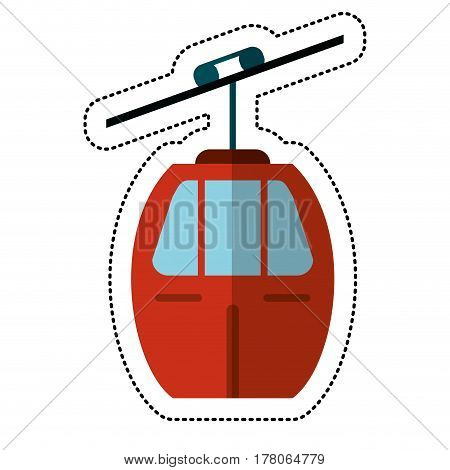 cable car transport shadow vector illustration eps 10
