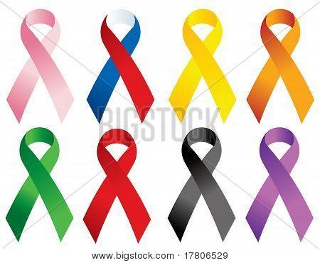 Memorial ribbons.