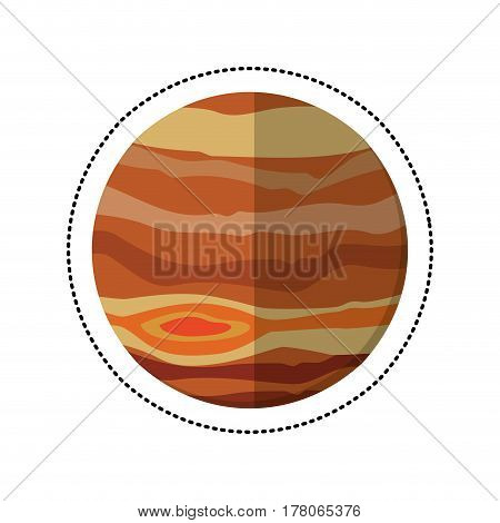 jupiter planet space shadow vector illustration eps 10