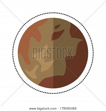 pluto planet space shadow vector illustration eps 10