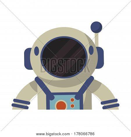 astronaut spacesuit helmet protection vector illustration eps 10