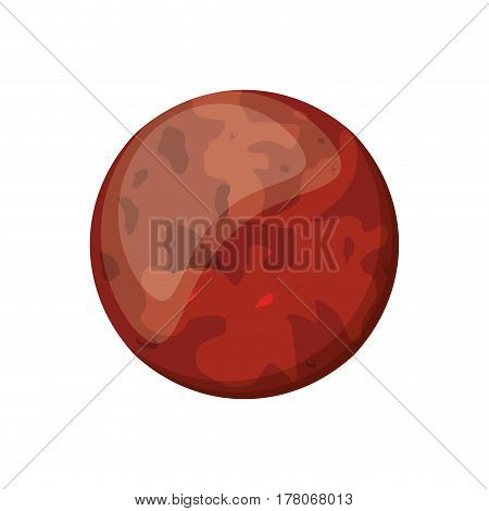 mars planet space image vector illustration eps 10