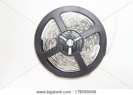 led strip lights roll on white background