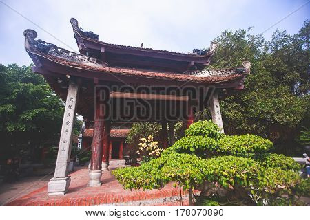 View Of Vietnam Capital City, Hanoi With Traditional Vietnamese Architecture