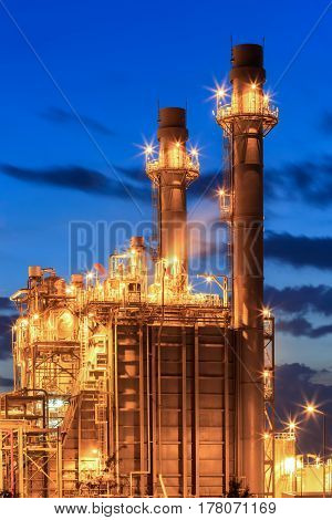 Tower of gas turbine electric power plant