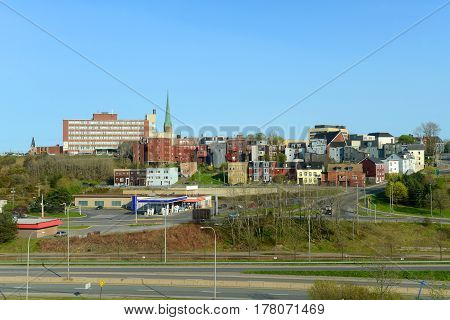 Saint John city skyline, Saint John, New Brunswick, Canada.