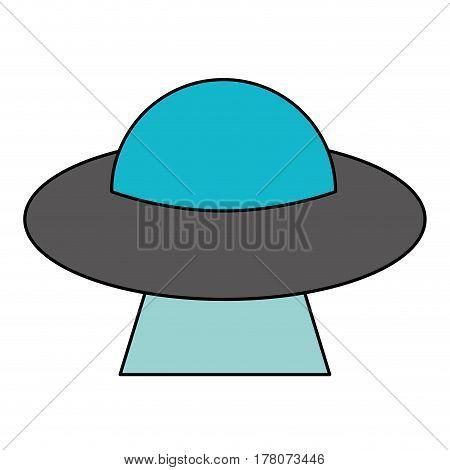 UFO aliens saucer space vector illustration eps 10