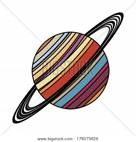 saturn planet astronomy image vector illustration eps 10