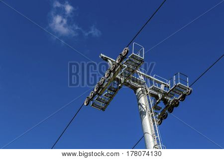 chairlift and blue sky