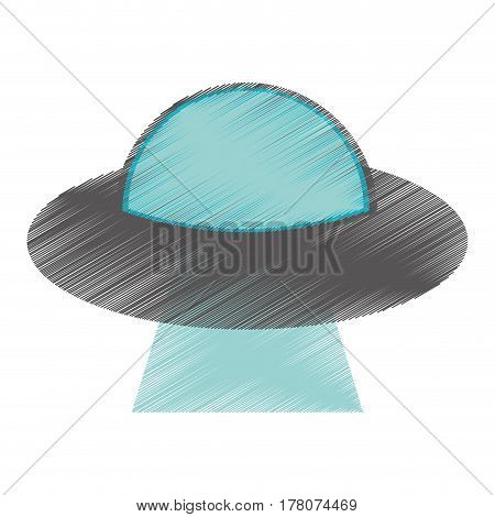 drawing UFO aliens saucer space vector illustration eps 10