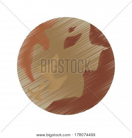 drawing pluto planet space system vector illustration eps 10