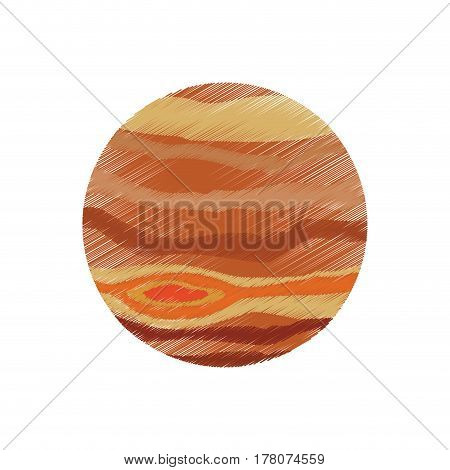 drawing jupiter planet system solar vector illustration eps 10