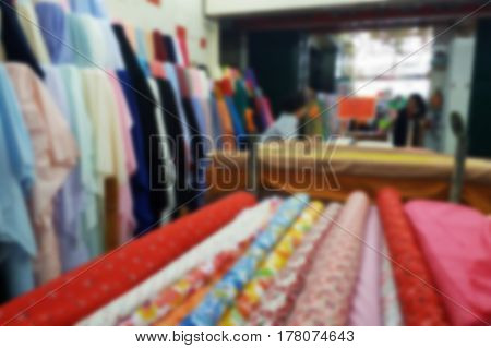 blurred photo, Blurry image, Fabric and Clothing store, background