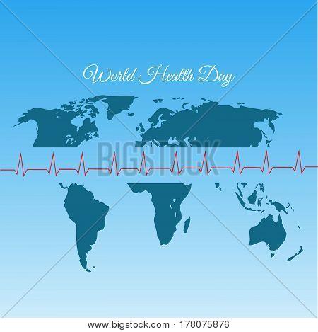 World Map Health Day Vector Illustration Eps 10