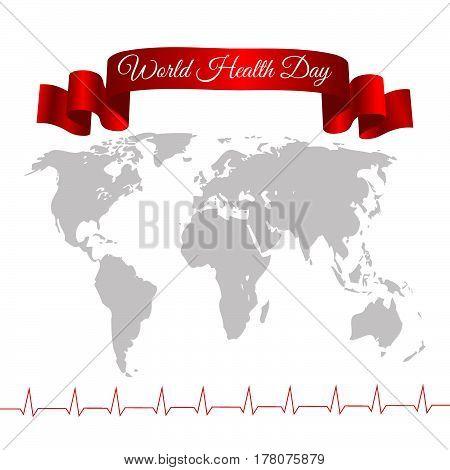 Card World Health Day Vector Illustration Eps 10
