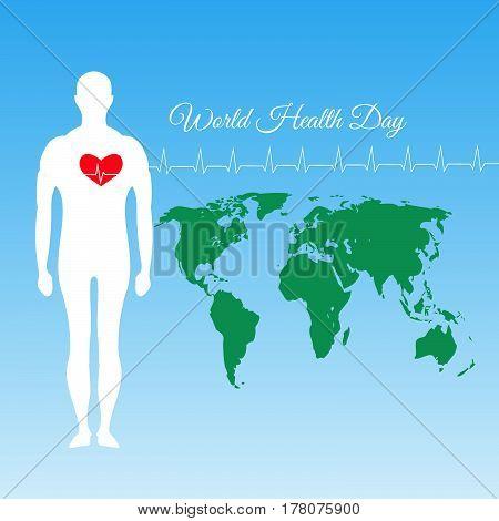World Health Day Card Vector Illustration Eps 10