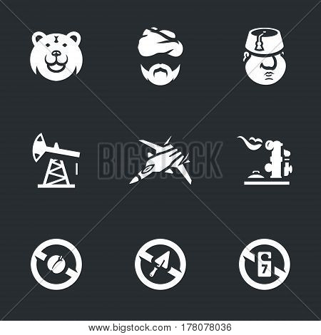 Bear, Syrian, Turk, oil rig, fighter, gas, fruit, construction, tourism.
