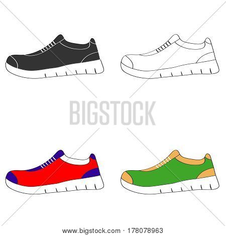 Sports shoes. Flat design vector illustration vector.
