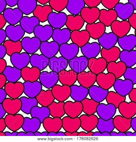 Heart Background For Saint Valentines Day, Greeting Backdrop