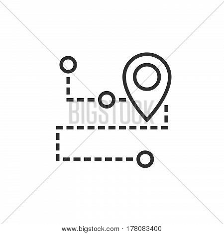 Track Shipment line icon outline vector sign linear pictogram isolated on white. logo illustration