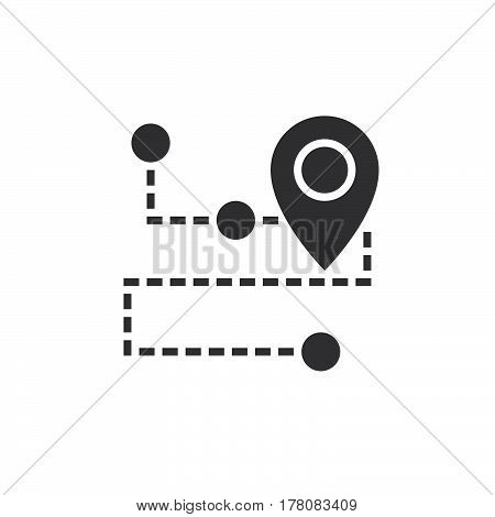 Track Shipment icon vector filled flat sign solid pictogram isolated on white logo illustration
