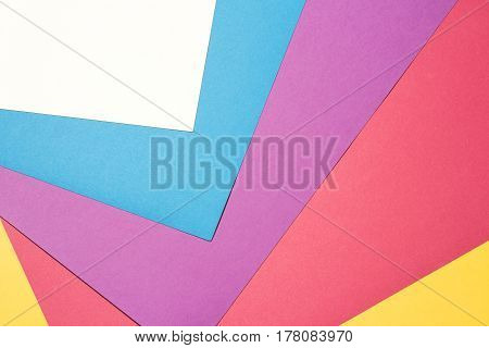 Composition with white, purple, blue, red and yellow sheets