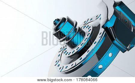 Car disk brake, 3d rendering, 3d model