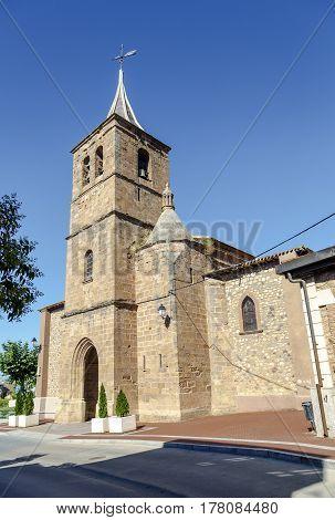 Parish church of San Pelayo in Banos del river Tobia La Rioja Spain