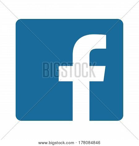 BARCELONA SPAIN - MARCH 25 2017: Facebook logo sign on white background printed on paper. Facebook is a well-known social networking service.