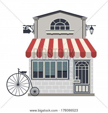 Illustration Of Little Cute Retro Store Shop Or Boutique