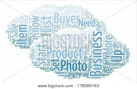 EBay Business for Newbies text background word cloud concept