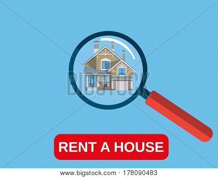 House Rent icon. Modern concept icon for web banner, web sites, infographics. Vector illustration in flat style