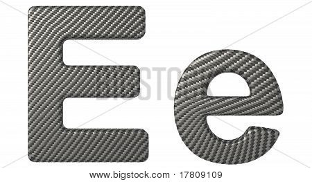 Carbon Fiber Font E Lowercase And Capital Letters