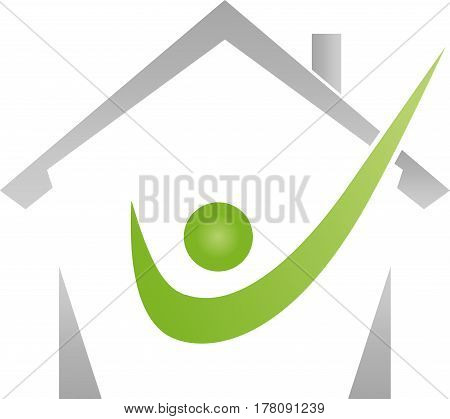 House and Human, Real Estate and Real Estate Check Logo