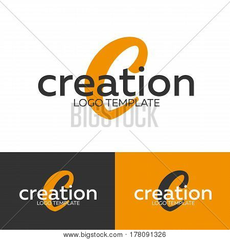 Creation Logo. Letter C Logo. Vector Logo Template. Logotype Concept.