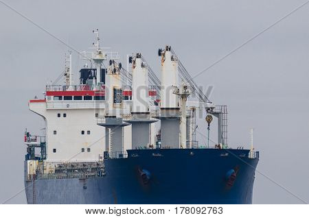 MERCHANT VESSEL - The bulk carrier is on the sea