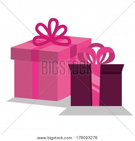giftbox presents set icons vector illustration design