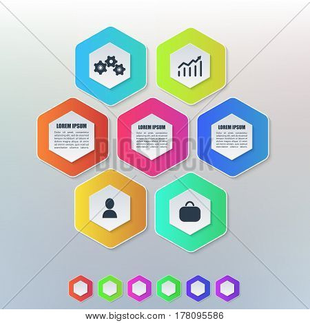 Vector elements infographics for business. Useful for presentations and advertising.