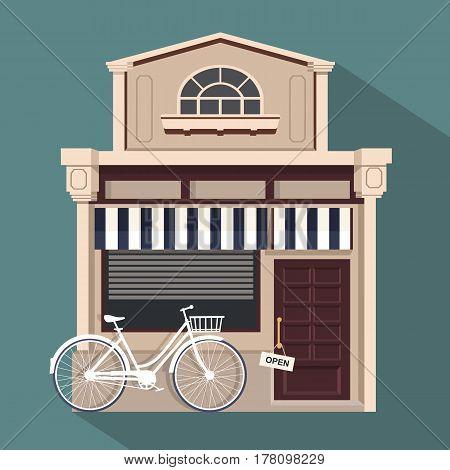 Restaurant Buildings Set Vector Illustration Cartoon Cafe Bistro Diner Coffee House