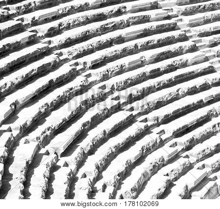 In Turkey Europe Aspendos The Old Theatre Abstract Texture Of Step And Gray